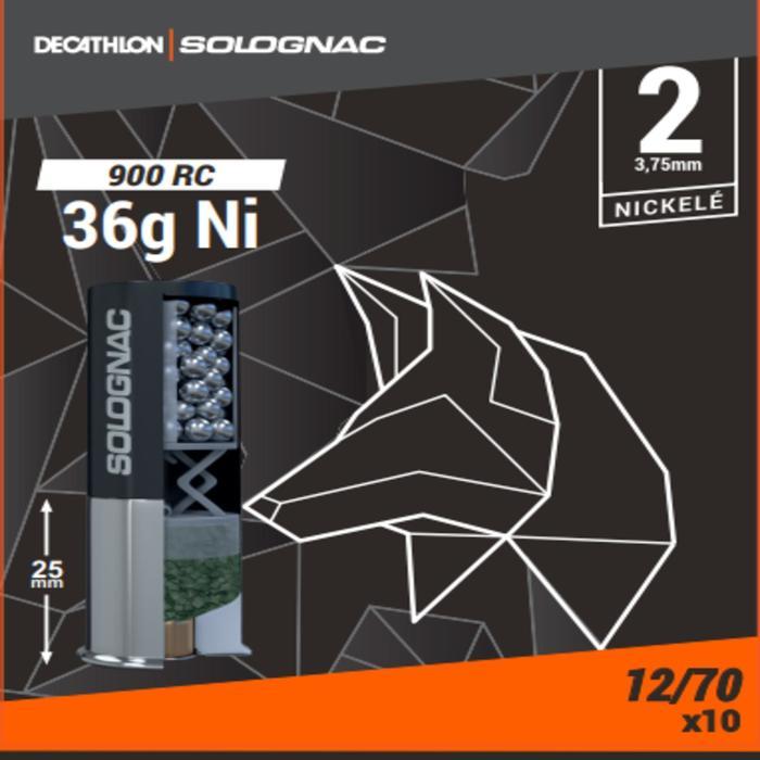Cartucho Caza Solognac 900 RC 36 g Niquelado Pb n.° 2