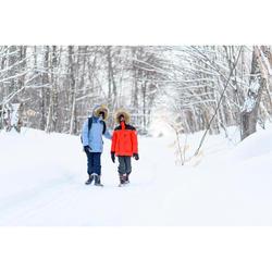 Winterjacke Winterwandern SH500 Ultra-Warm Kinder Mädchen 7–15 Jahre hellblau