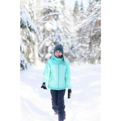 Warme 3-in-1 wandeljas voor de sneeuw meisjes SH500 X-Warm 8-14 jaar blauw