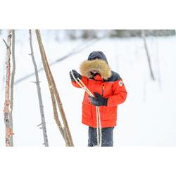 Parka de randonnée neige enfant SH500 U-Warm garçon 7-15 ans grise.