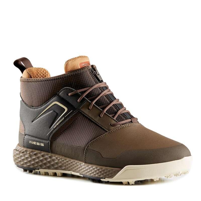 SCARPE GOLF UOMO TEMPO FREDDO Golf - Scarpe golf uomo marroni INESIS - Abbigliamento e scarpe golf