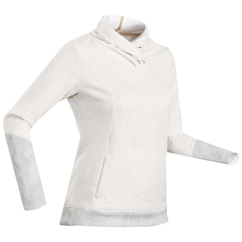 WOMEN NATURE HIKING JUMPERS/HOODIES Clothing - Women's Pullover NH500 - White QUECHUA - Tops