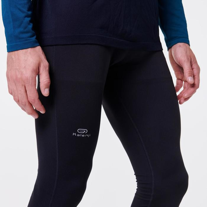 MEN'S RUNNING TIGHTS KIPRUN LIGHT WITH BUILT-IN CARRY SYSTEM - BLACK
