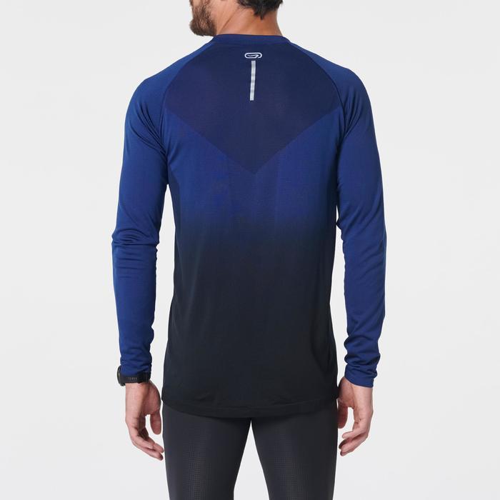 Hardloopshirt met lange mouwen voor heren Kiprun Care blauw/zwart