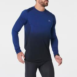 KIPRUN CARE MEN'S RUNNING BREATHABLE LONG-SLEEVED T-SHIRT - BLUE/BLACK