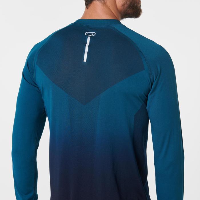 Ademend hardloopshirt met lange mouwen voor heren Kiprun Care groen/zwart