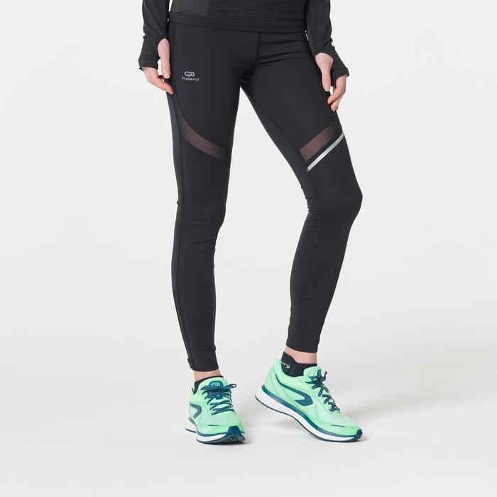 Laufhose lang Tights Kiprun Support Damen schwarz