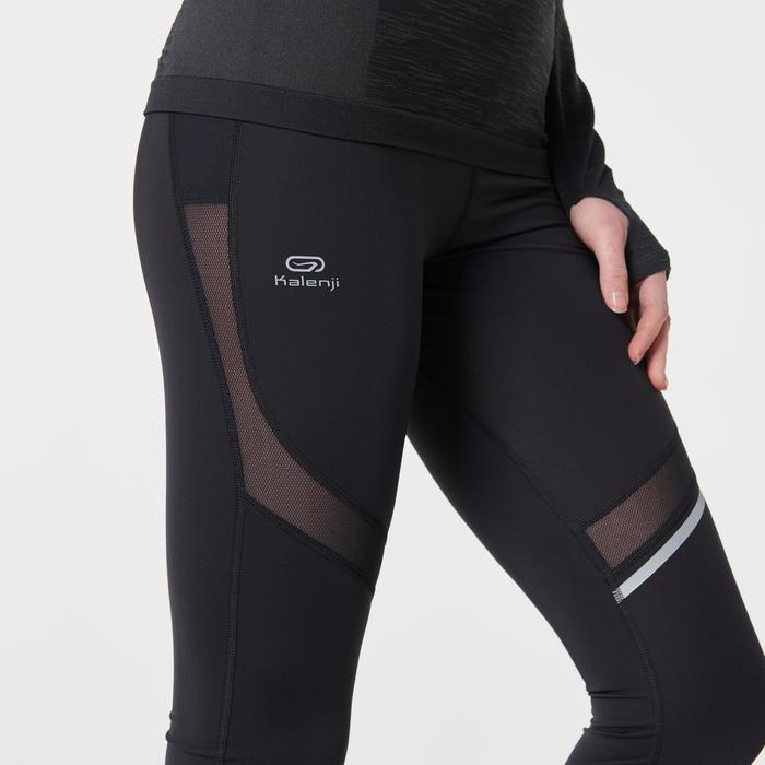 女款跑步緊身褲KIPRUN SUPPORT - 黑色