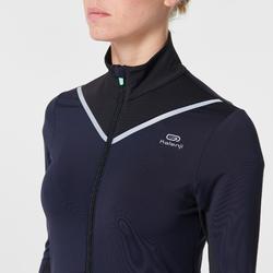 Laufjacke Kiprun Warm Damen marineblau