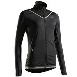 女款保暖跑步外套KIPRUN - 黑色