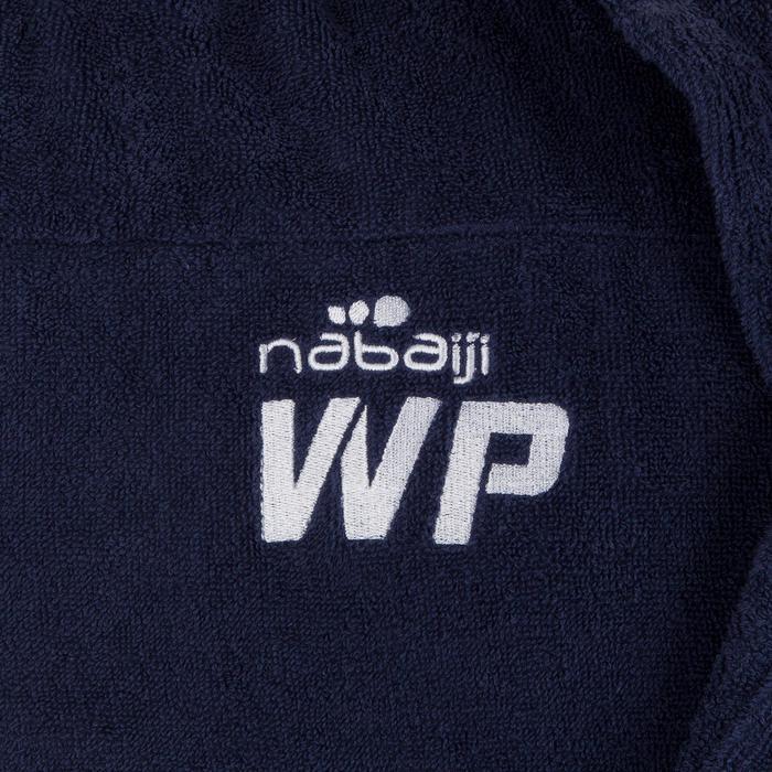 Albornoz Piscina Natación Nabaiji Hombre Azul Marino Capucha Cinturón Algodón