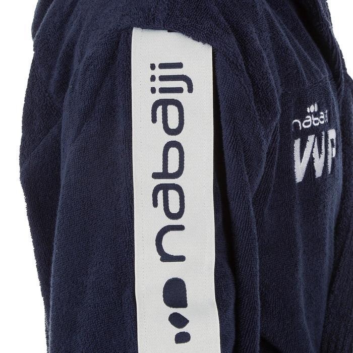Peignoir 500 water polo homme coton bleu foncé avec ceinture, poches et capuche
