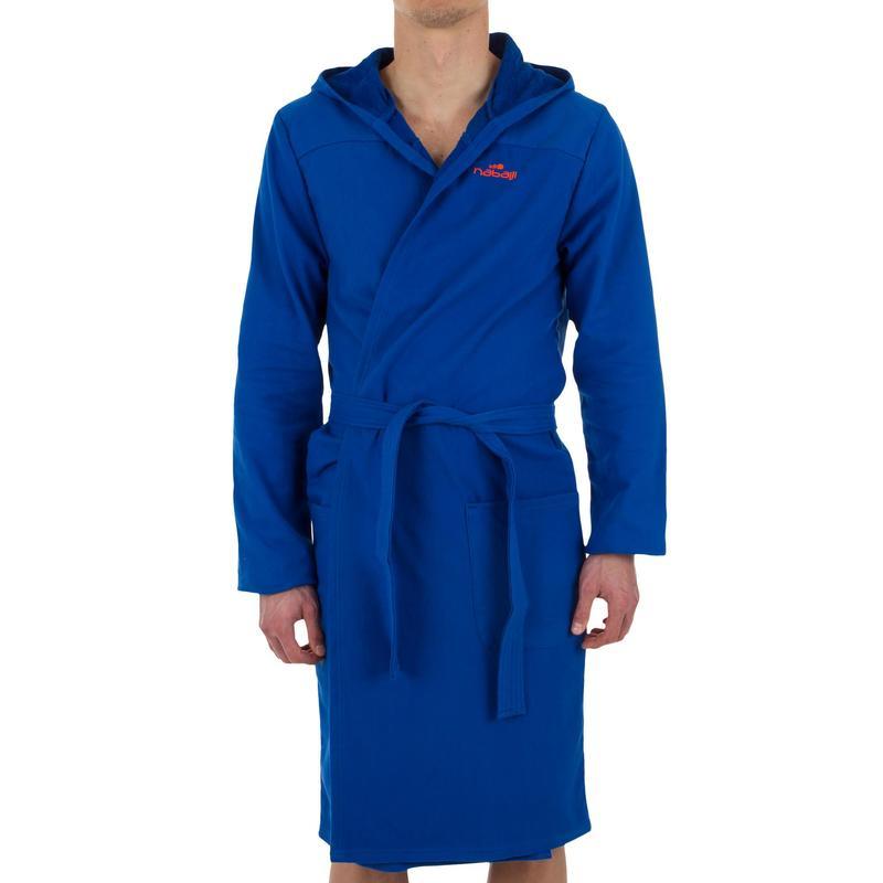 2019 professional sale online largest selection of Towels, bathrobes - Men's Lightweight Cotton Bathrobe with Hood, Pockets  and Belt - Light Blue