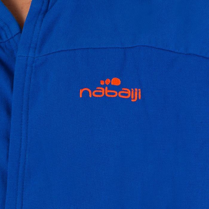 Albornoz de algodón ligero azul claro hombre con cinturón, bolsillos y capucha
