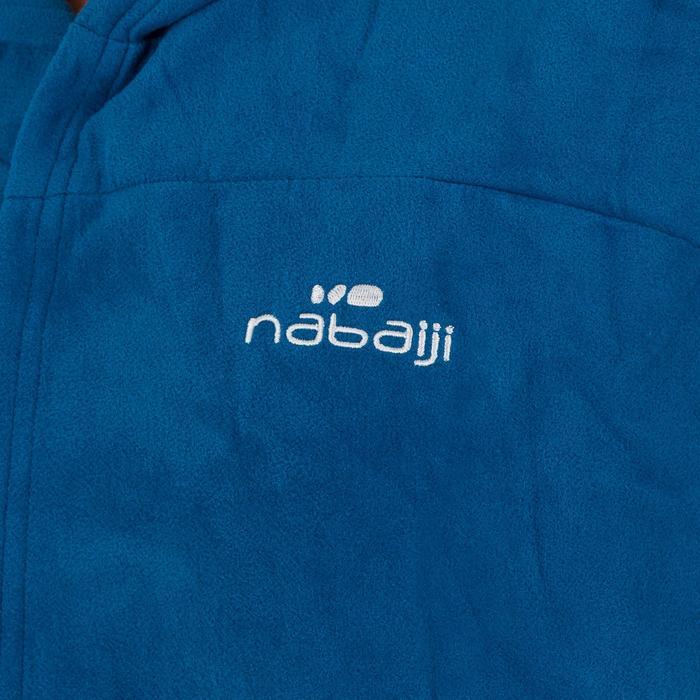 Albornoz compacto de microfibra azul hombre con capucha, bolsillos y cinturón