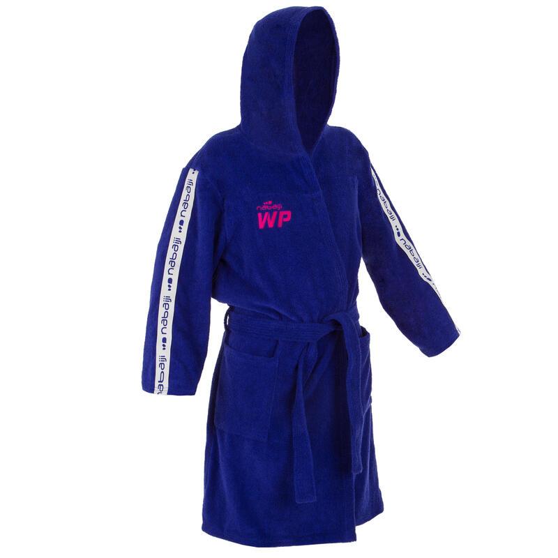 Women's Water Polo Thick Cotton Bathrobe 500 - Purple