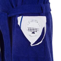 Badjas voor dames 500 paars dik katoen waterpolo
