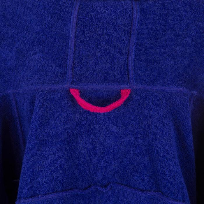 Bademantel 500 Wasserball Baumwolle mit Kapuze Tasche Gürtel Damen lila