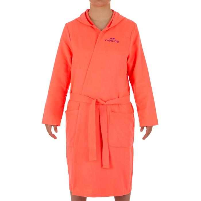 Set microvezel badjas en handdoek L (80x130 cm) voor dames roze