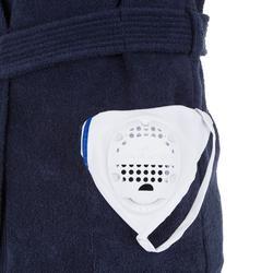 Bademantel Baumwolle dick WP500 Gürtel Tasche Kapuze Kinder dunkelblau