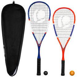 Set Raqueta Squash Opfeel SR 160 Family (Raquetas Adulto y Niño+2 Pelotas+Funda)