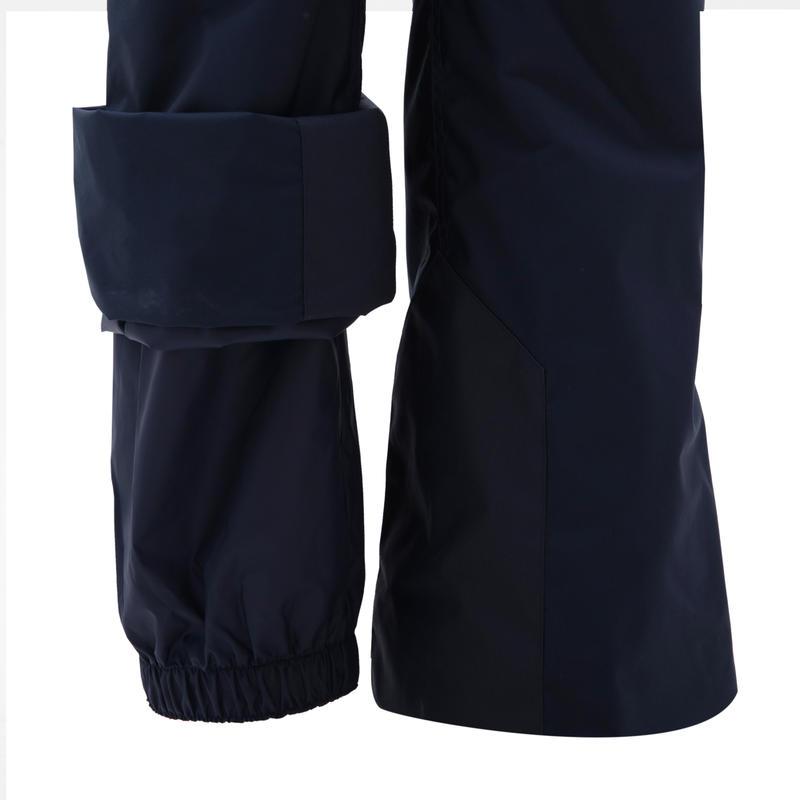 กางเกงขายาวเพื่อการเล่นสกีลงเขาสำหรับผู้หญิงรุ่น 180 (สีกรม)