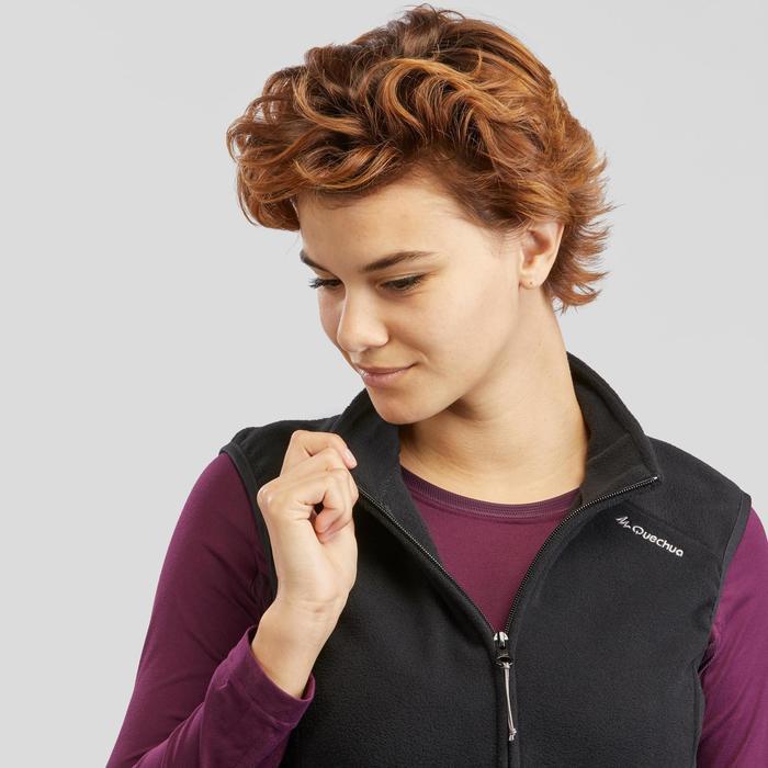 Women's Mountain Walking Fleece Gilet MH120 - Black