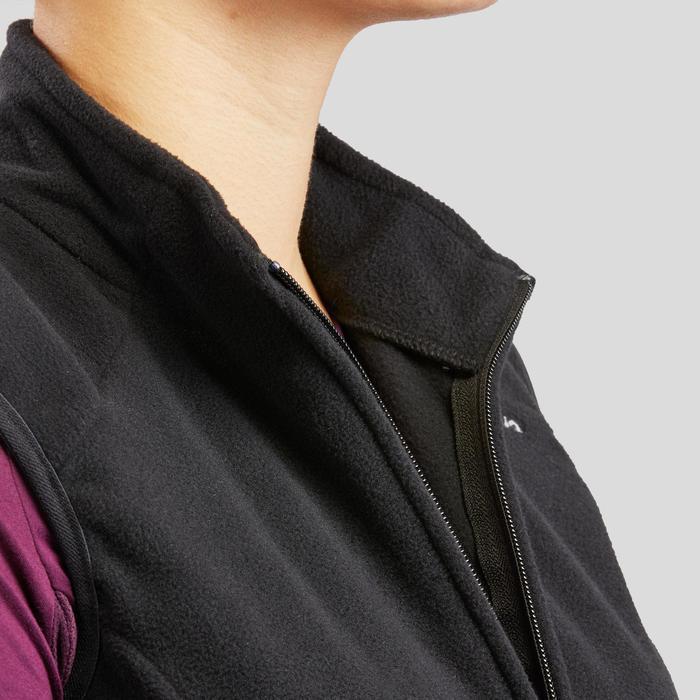 Fleece bodywarmer voor bergwandelen dames MH120 zwart