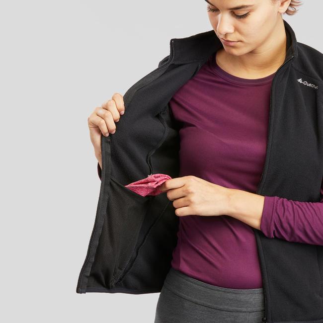 Women's Fleece Sleeveless MH120 - Black