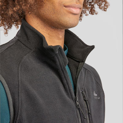 Men's Mountain Walking Fleece Gilet MH120 - Black