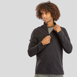 Men's Mountain Hiking Fleece Sweater MH100 - Black