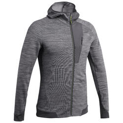 男款登山健行刷毛外套MH900-刷色灰