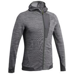 Men's Mountain Hiking Fleece Jacket MH900 - Mottled grey