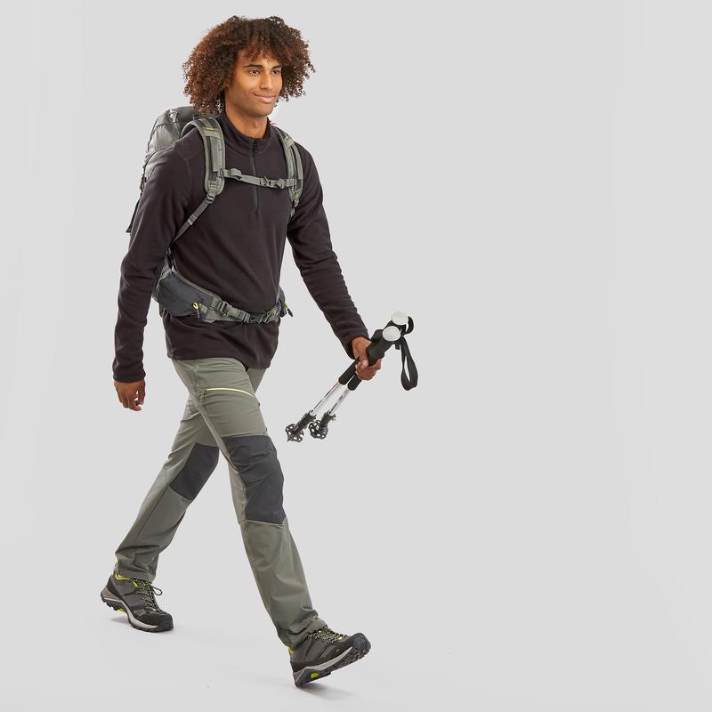 Men's Mountain Walking Fleece MH100 - Black