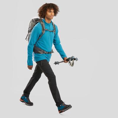 Чоловіча флісова кофта 100 для гірського туризму - бірюзова