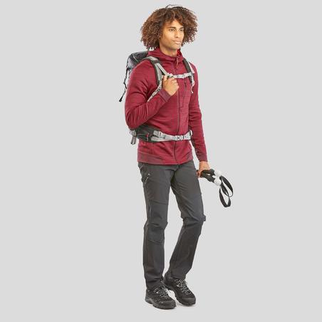 Men's Mountain Hiking Jacket MH900 - Mottled Maroon