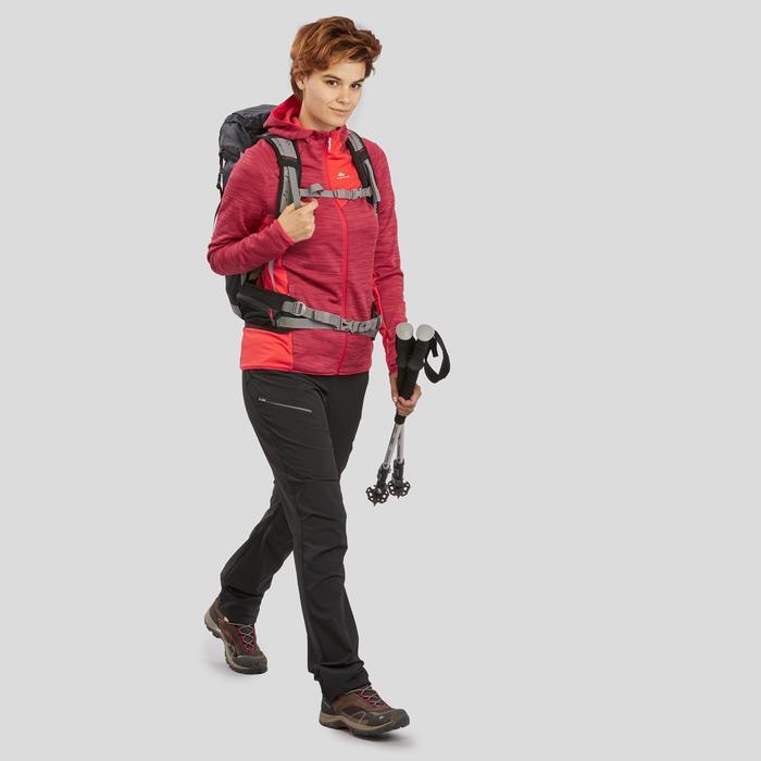 Veste polaire de randonnée montagne femme MH900 rouge corail