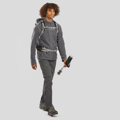 Чоловіча флісова кофта 120 для гірського туризму - Сіра