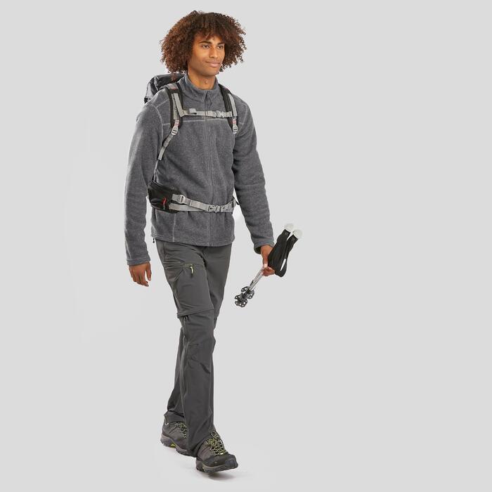 Men's Mountain Walking Fleece Jacket MH120 - Mottled grey