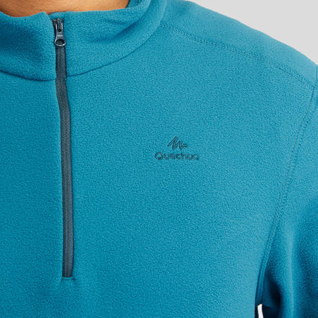 Men's Mountain Walking Fleece Sweater MH100 - Turquoise