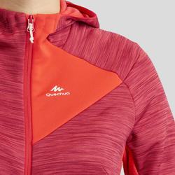 Women's Mountain Walking Fleece Jacket MH900 - Red Coral