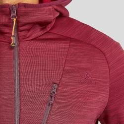 Fleece jas voor bergwandelen heren MH900 gemêleerd bordeaux