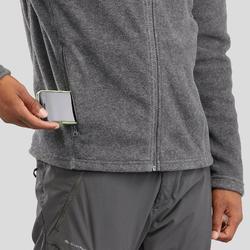 男款登山健行刷毛外套MH120-刷色灰