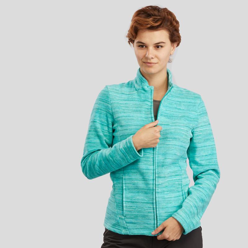 Women's Mountain Walking Fleece Jacket MH120 - Green