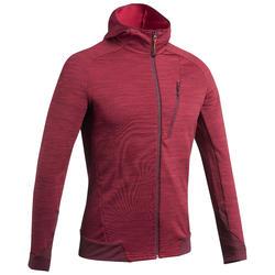 Fleece vest voor bergwandelen heren MH900 gemêleerd bordeaux