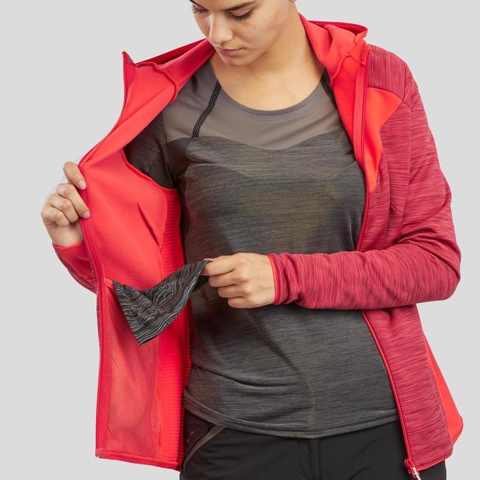 Fleece vest voor bergwandelen dames MH900 koraalrood