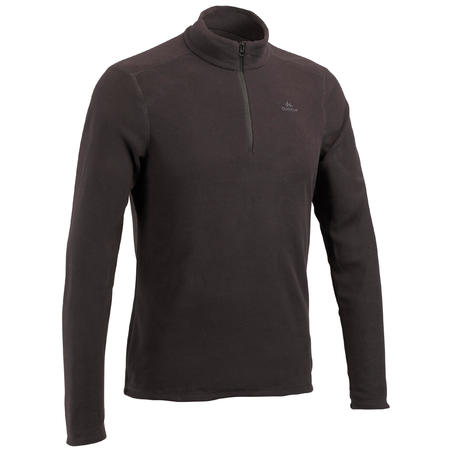 Men's Mountain Hiking Fleece Sweater MH100 - Black