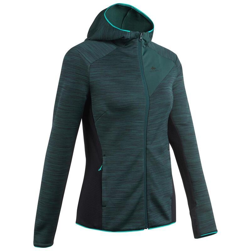 Dunne fleece jas voor bergwandelen dames MH900