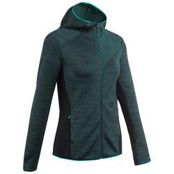 Veste polaire de randonnée montagne femme MH900 vert chinée