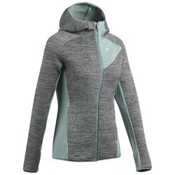 女款登山健行刷毛外套MH900-綠色/卡其色